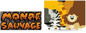 logo monde sauvage safari parc animalier